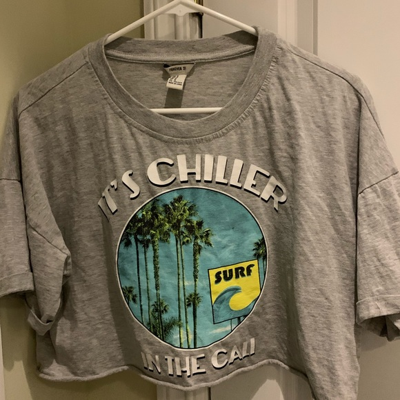 Forever 21 Tops - Grey Forever 21 Crop Top